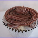 nutella cupcakes with nutella cream cheese frosting