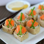 "Turkey-Orange-Cream Cheese ""Sushi"" Rolls #LilSnappers"