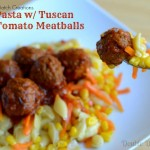 #ad Buttered Pasta Shells with Tomato Sauce Covered Meatballs #MixNMatchMeals