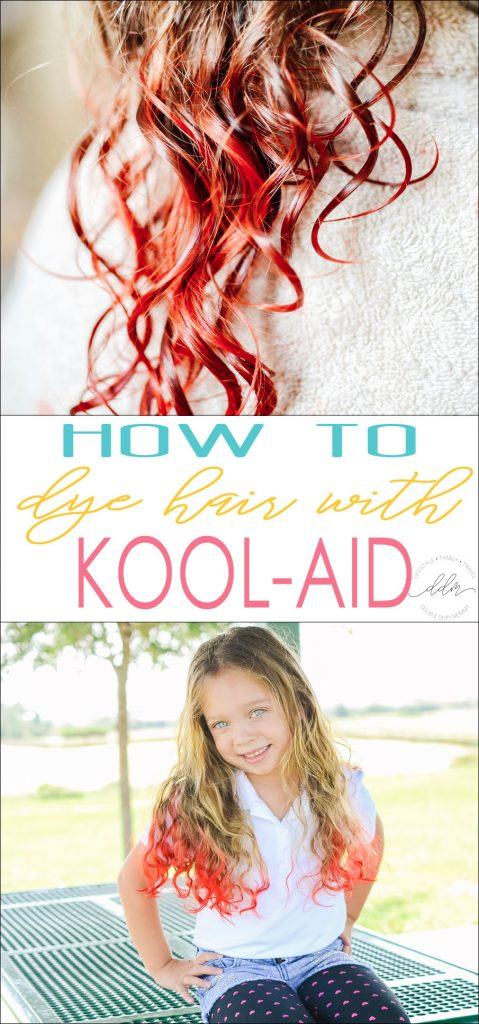 Looking for an easy way to dye your hair TEMPORARILY? Using Kool-Aid from this step-by-step post from @DoubleDutyMommy, you can achieve the look you want!