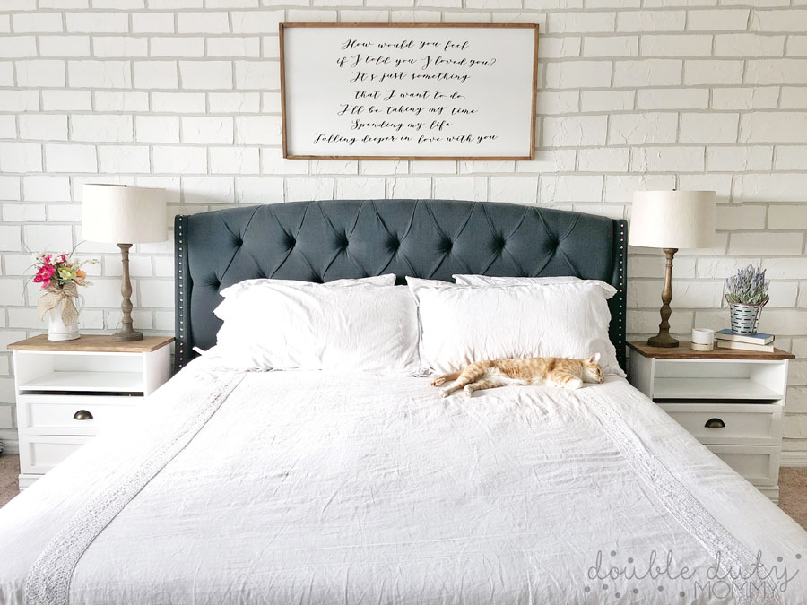 Diy Faux Brick Wall Easy And Great Looking On A Budget