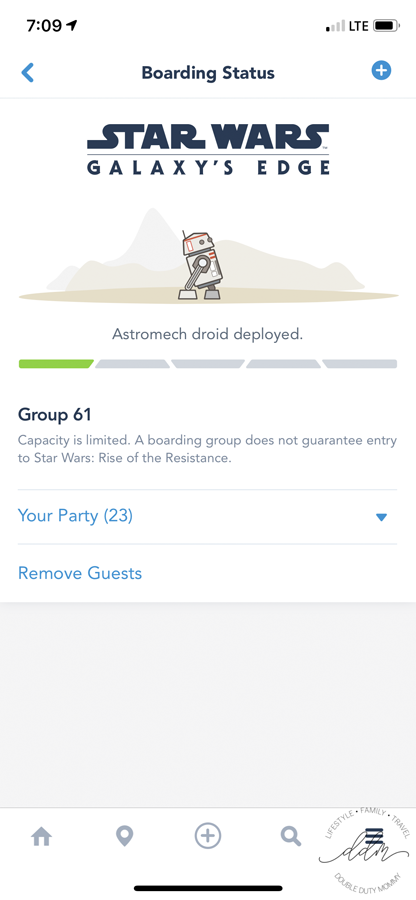 Star Wars Boarding Group Status