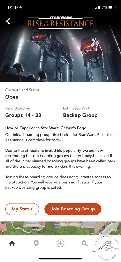Star Wars Boarding Group join page